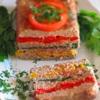Мясной хлебец с овощами