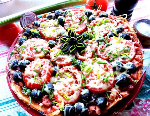 Пицца приготовленная дома рецепт