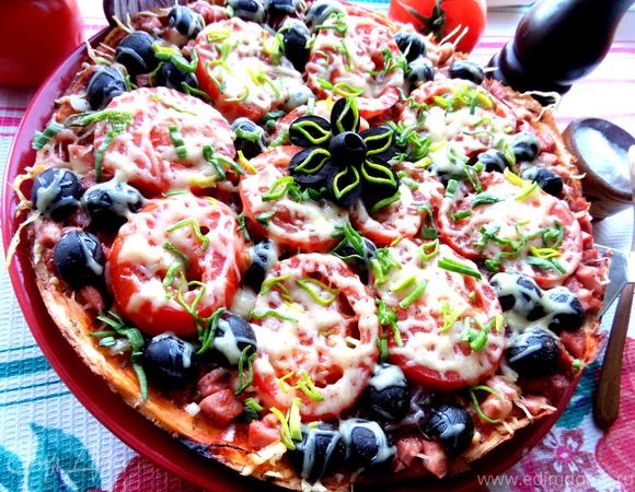 Пицца, приготовленная без духовки