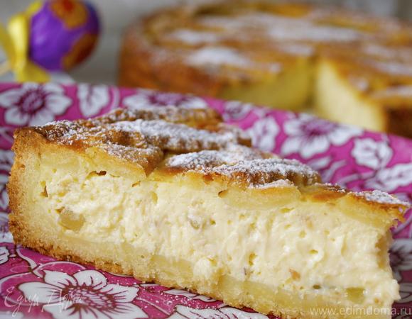 Итальянский пасхальный пирог с миндалем и заварным кремом (Pastiera)