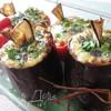 Баклажаны и перцы с кориандром, сыром и овощами