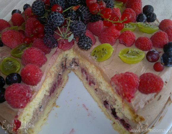 "Торт "" Ягода-малина"""