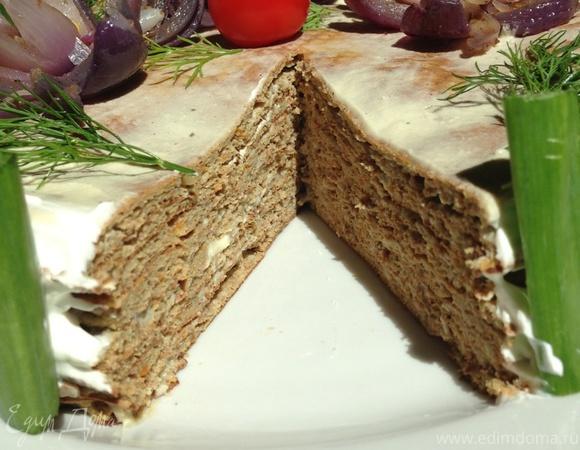 Печеночный торт с яблочным кремом