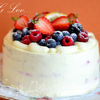 Медовый торт с малиновым мармеладом