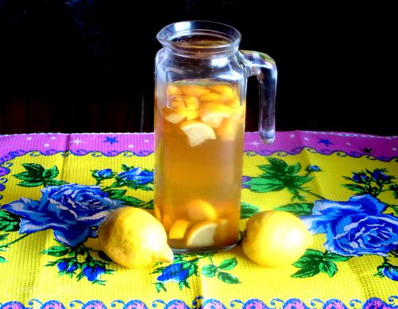 Лимонад из зеленого чая