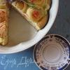 Пирог-плюшка с заварным кремом