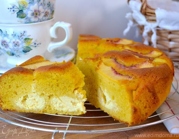 """Торт """"НУА"""" с рикоттой и нектаринами"""