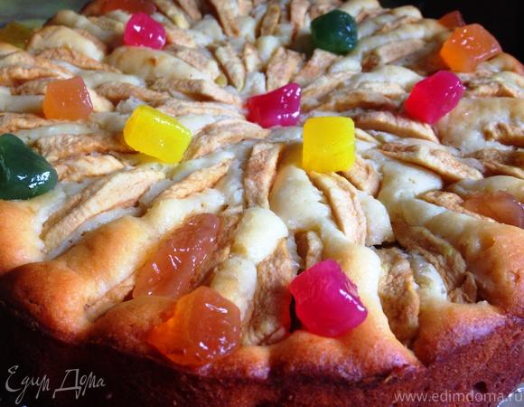 """Творожный пирог с яблоками и цукатами """"Весеннее настроение"""""""