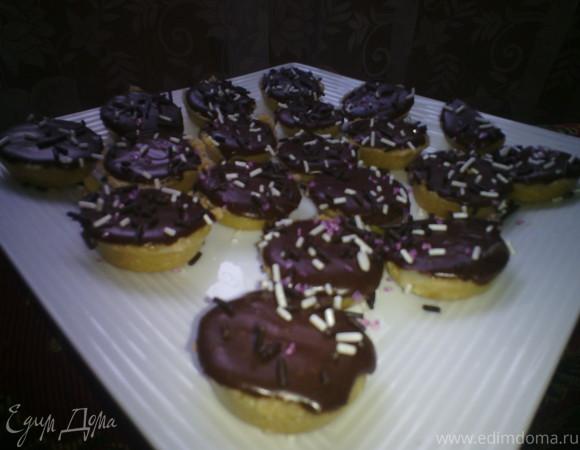 Тарталетки с шоколадом
