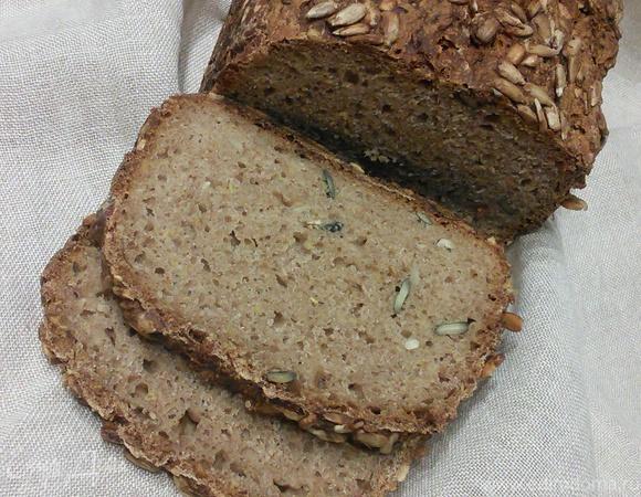 Цельнозёрновой спельтовый хлеб на кефире