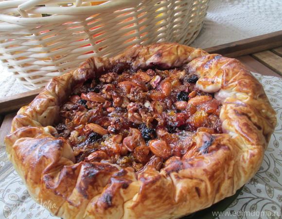 Цитрусовый пирог с карамельными орехами