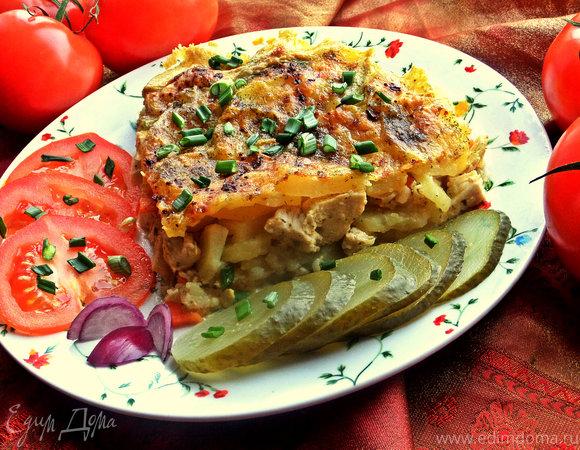 Картофельная запеканка с курицей