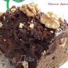 Постный шоколадно-ореховый кекс