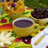 Черешневый суп с творожными клецками