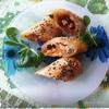 Закусочные трубочки с курицей и овощами