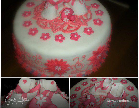 На что могут вдохновить внуки или мой торт на крестины Аришки :)
