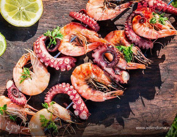 Самые вкусные морепродукты для семейного меню