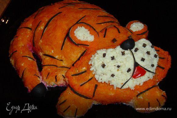 Размещаем все по местам и получаем симпатичного тигренка.