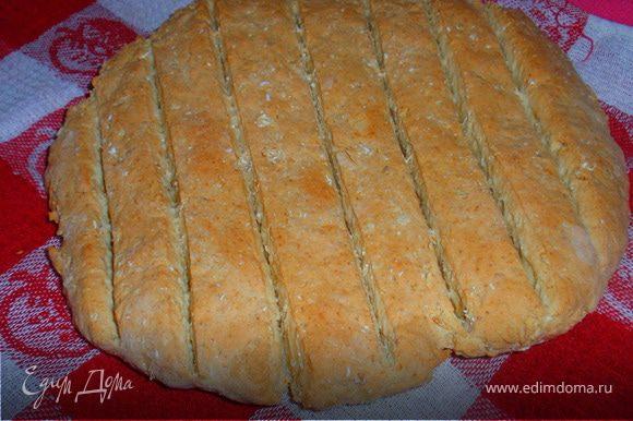 Духовка 200 градусов печь 30 минут. Накрыть хлеб полотенцем и дать немного остыть. Подавать к столу теплым. Приятного аппетита!!!