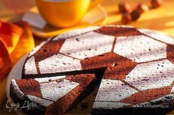 шоколадный бисквит, сахарная пудра