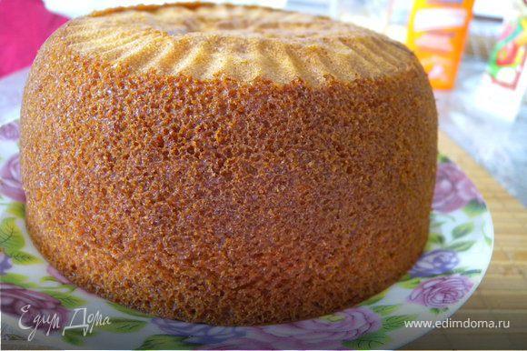 Выпекаем бисквит как в рецепте http://www.edimdoma.ru/recipes/20941.
