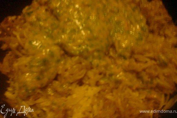 баклажаны и кабачки жарить на оливковом масле,добавить алычу с зеленью и чесноком,поперчить,посолить,добавить сахар по вкусу