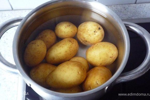 Картофель отварить в течение 20 мин.