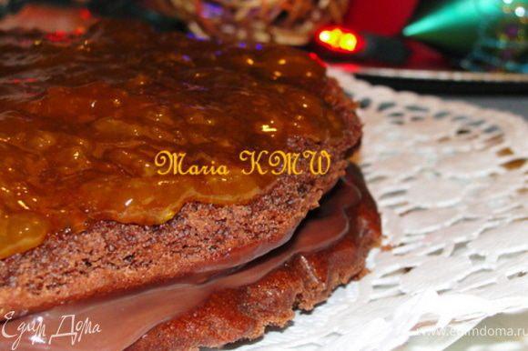 Получилось насыщенно и вкусно, сам бисквит с какао-кофейным вкусом очень понравился.