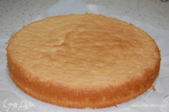 Испечь ЗАМЕЧАТЕЛЬНЫЙ бисквит от Евы http://www.edimdoma.ru/recipes/31180 Разрезать на два коржа.