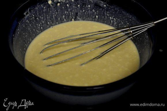 Просеем муку,соль в большое блюдо.Добавим молоко,яйца все перемешаем.Затем 80гр.слив.масло в растоплен.виде.Перемашаем все тщательно.Поставим в холодильник на 2часа или на ночь.