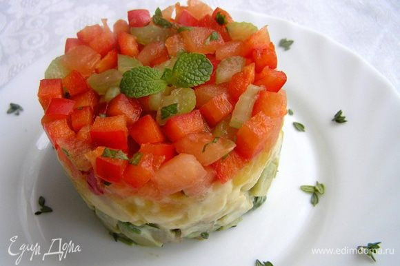 Украсить листиками тимьяна и мяты. Приятного аппетита! :)