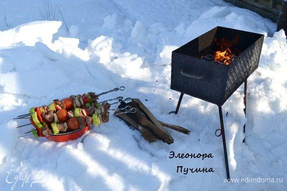 Готовим угли)