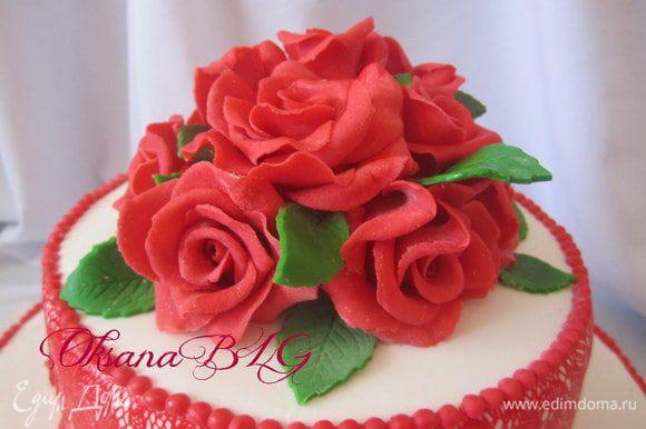 Как делать розы можно посмотреть тут http://www.edimdoma.ru/recipes/21998