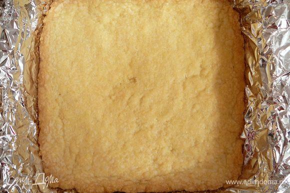 Охлажденное тесто выпекать в духовке в течении 15-20 минут до светло-коричневого цвета. Достать из духовки и охладить в течение 10 минут.
