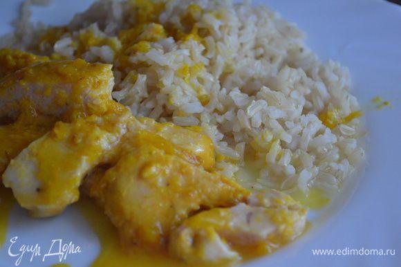 Коричневый рис очень кстати. :)