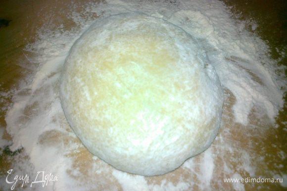 замесим дрожжевое тесто, сначала сделаем живые дрожжи, а затем добавим остальные ингридиенты и замесим тесто, оставим на 40 мин подходить