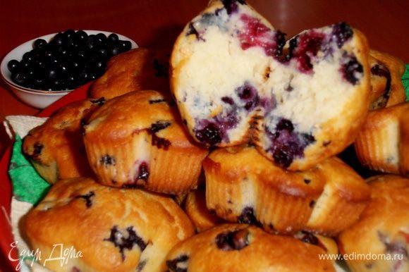 Из второй половины теста будем печь кексы с ягодкой!(http://www.edimdoma.ru/retsepty/44928-keksy-s-chernikoy-na-prostokvashe)