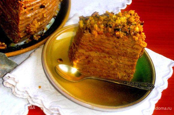 Кусочек медово-яблочного торта с любовью ко всем ВАМ!!!