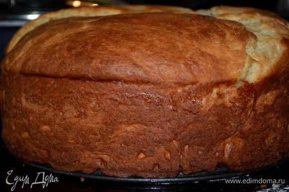 Готовые пироги достать из духовки,дать окончательно охладится.Разрежем по горизонтали напополам.Нижний пласт пропитываем сиропом,а затем кремом.Крем ровно распределяем по поверхности лопаткой. Закрываем сверху верхней половинкой ,посыпаем сахарной пудрой.