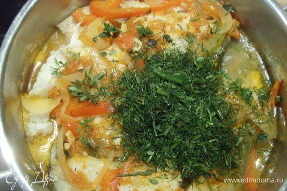 Сдобрить рыбку зеленью. Приятного аппетита!