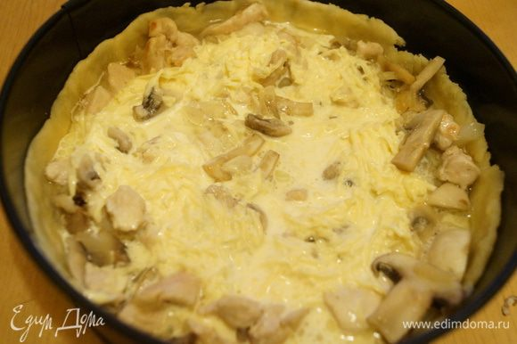 лоранский пирог с курицей и грибами рецепт едим дома