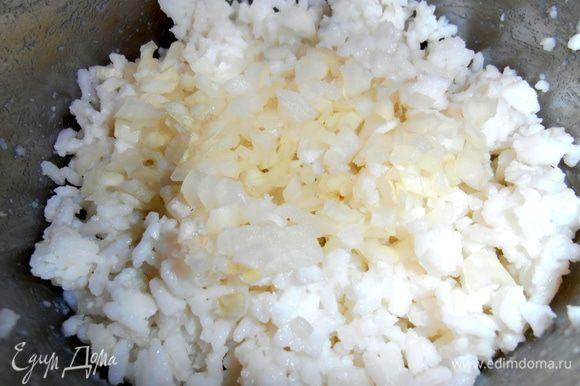 Отправляем в заранее отваренный рис.