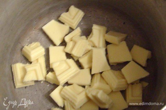 Растопить шоколад на водяной бане.