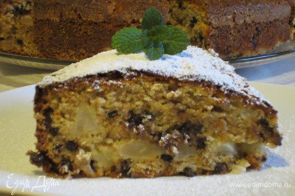 Остывший пирог посыпать сахарной пудрой. Приятного аппетита:)