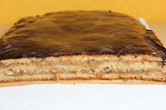 подождав немного.. пока пирог остынет..нарезаем его.. Вкусно - конечно, это мало сказано... попробуйте сами!