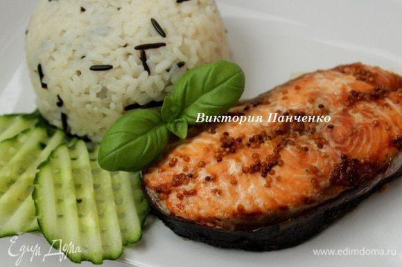 Запекать при 180 градусах 20-25 минут. Подавать с рисом и свежими овощами. Приятного аппетита!!!