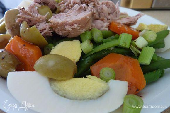"""Спасибо Светочке - Стелла - за рецепт салата """" Салат с тунцом и зеленой фасолью """" - http://www.edimdoma.ru/retsepty/54804-salat-s-tuntsom-i-zelenoy-fasolyu Очень вкусно , прекрасное сочетание продуктов ."""