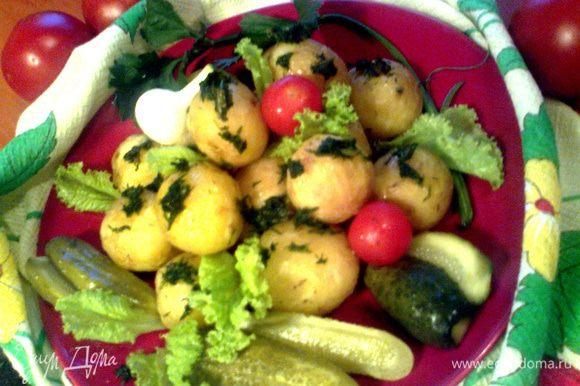 Подаём к салату..., огурчикам, другим овощам или в качестве гарнира!