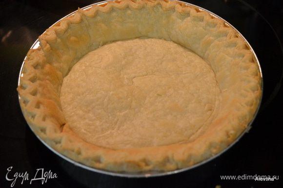 Разогреть духовку до 200 гр. Поставить готовое тесто в форме для запекания на 12-15 мин. Достать и дать полностью остыть.