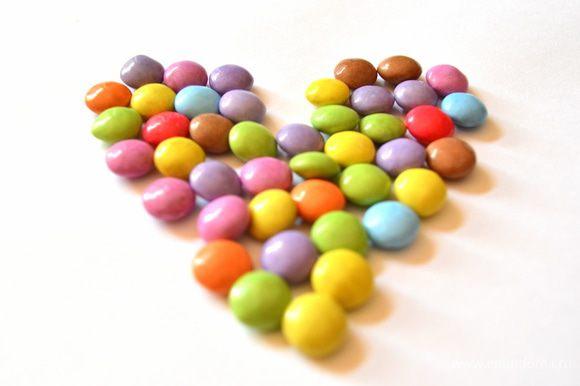 ...но я приклеила цветные конфетки.